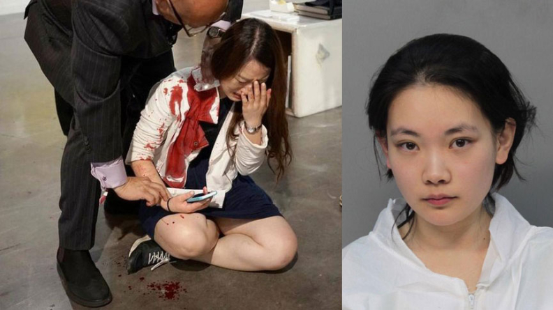 Woman Stabbing Mistaken As Art
