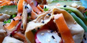 Hungry Empress' Tahini Yuba Salad with Crunchy Vegetables