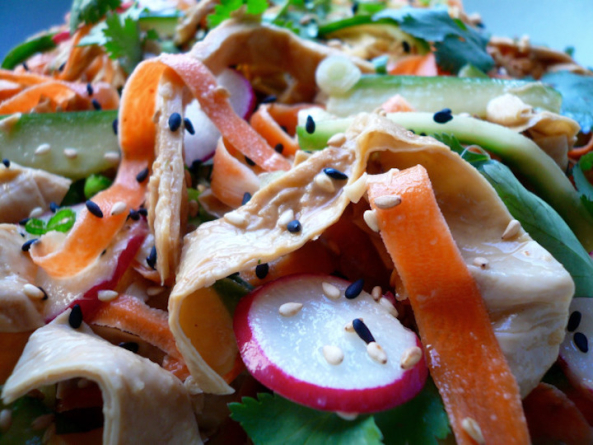 Hungry Empress' Tahini Yuba Salad with Crunchy Vegetables